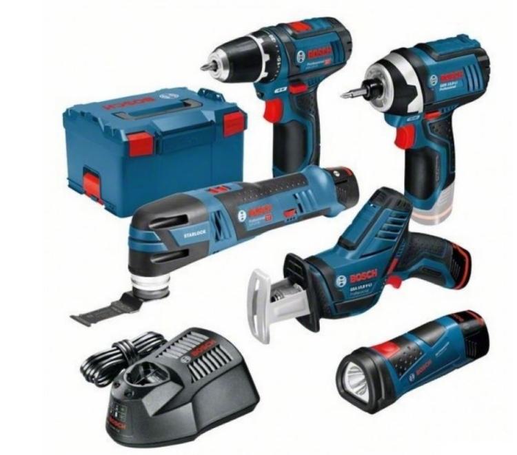 Bosch 5 ToolKit 12V GSA + GSR + GOP + GDR + GLI + 3x 2,0 Ah